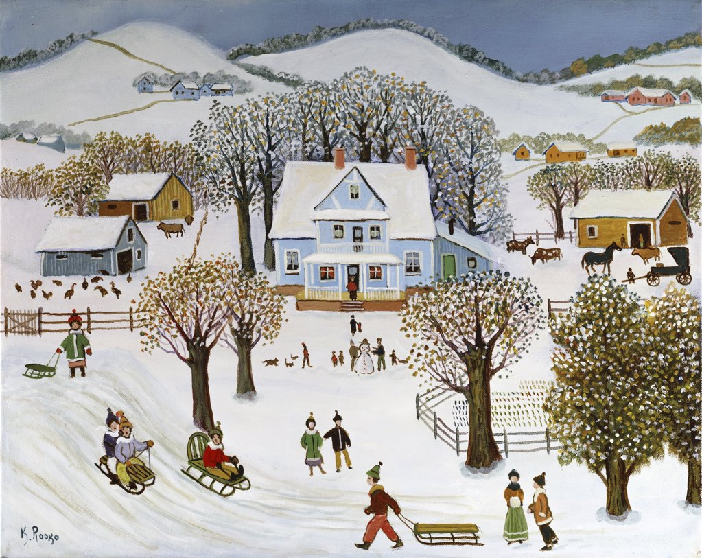 Stock Photo: 900-145730 Sledding 