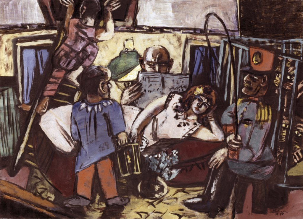 Stock Photo: 900-146078 The Circus Wagon by Max Beckmann, oil on canvas, 1940, 1884-1950, Germany, Bavaria, Munich, Stadtmuseum