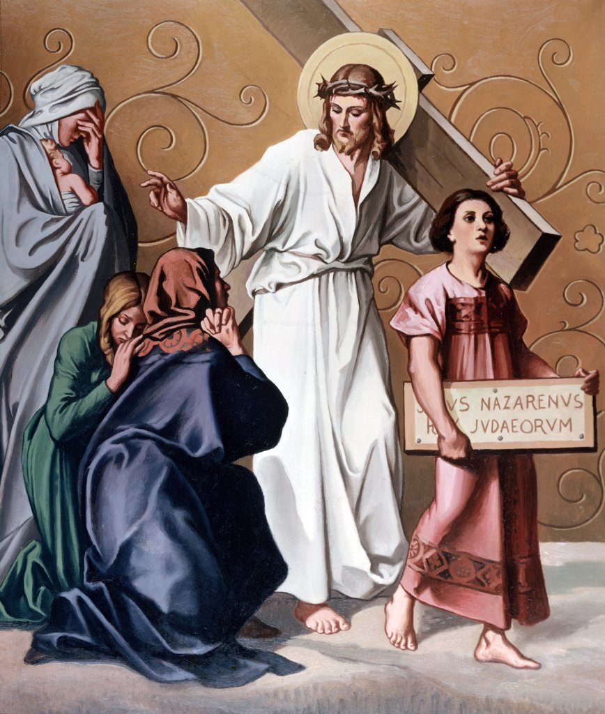 Stock Photo: 900-14799 Jesus Speaks to Daughters of Jerusalem by unknown artist