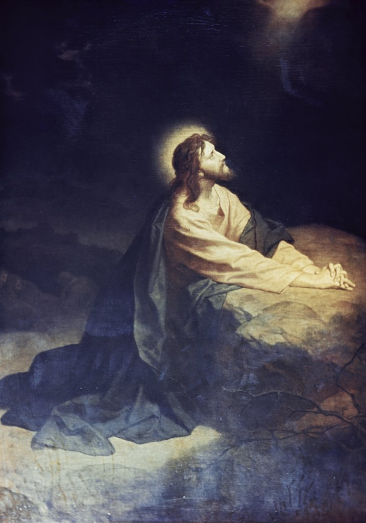 Stock Photo: 900-1497 Christ in the Garden of Gethsemane