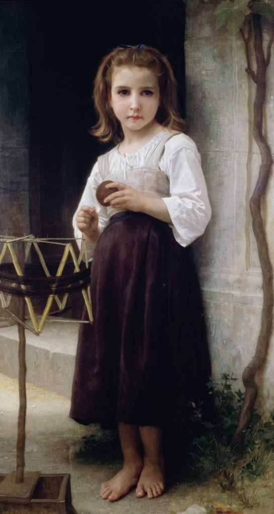Stock Photo: 900-183 Child with a Ball of Wool  1886 William-Adolphe Bouguereau (1825-1905 French)