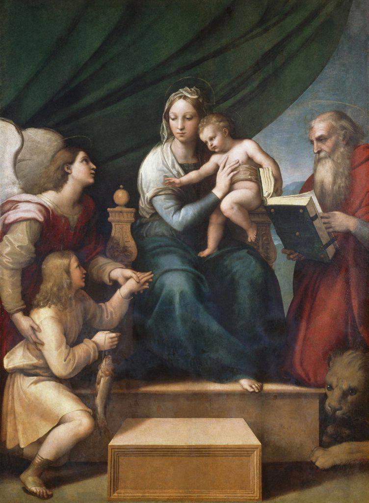 Stock Photo: 900-192 The Virgin of the Fish Raphael (1483-1520 Italian) Museo del Prado, Madrid