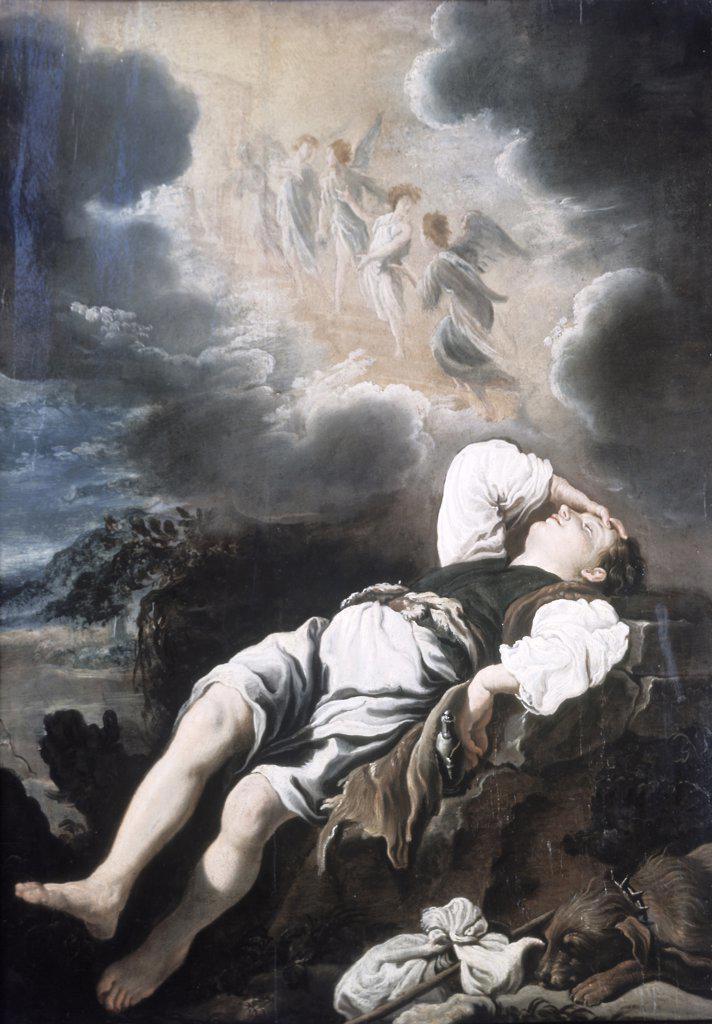 Stock Photo: 900-2154 Jacob's Dream Domenico Fetti (ca.1589-1623 Italian)