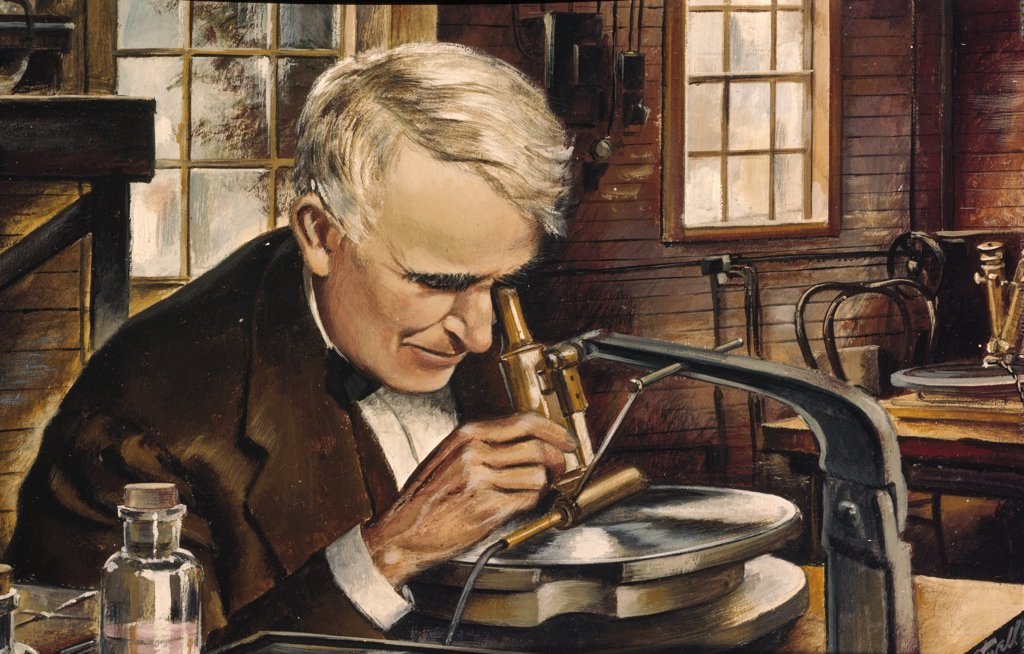 Edison: The Phonograph by unknown artist : Stock Photo