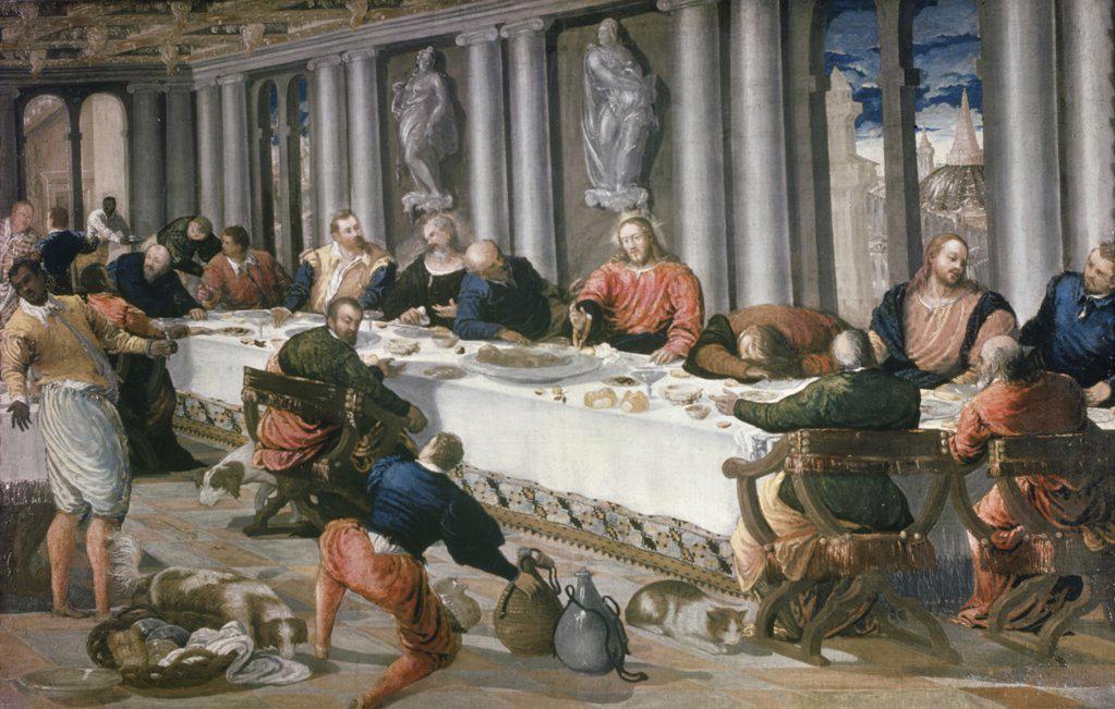Stock Photo: 900-2851 The Last Supper El Greco (1541-1614/Greek)