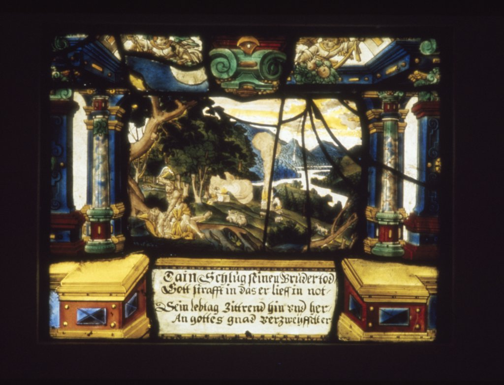 Stock Photo: 900-2996 Scene from Genesis,  stained glass,  17th Century
