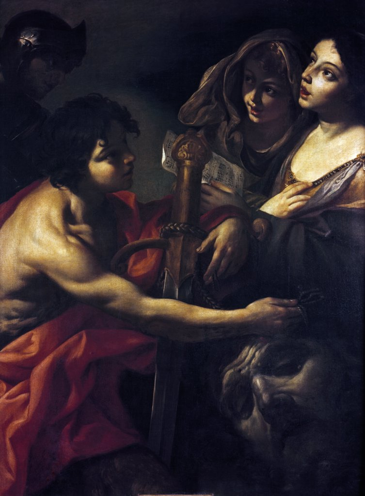 Stock Photo: 900-314 David Victorious by Giacinto Brandi, (1623-1691)