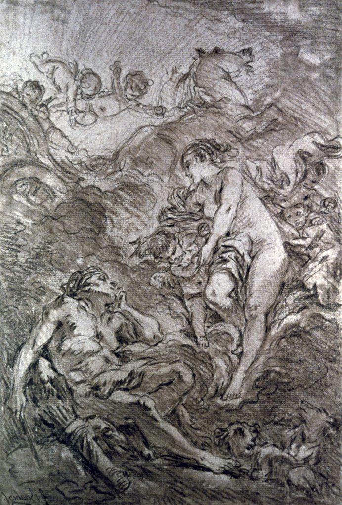 Stock Photo: 900-315 Aurora and Cephalus, Francois Boucher, (1703-1770/French)