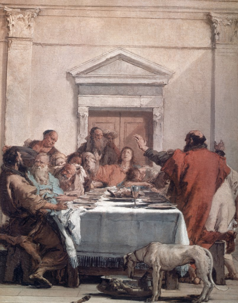 Stock Photo: 900-3165 The Last Supper by Giovanni Battista Tiepolo, (1696-1770)