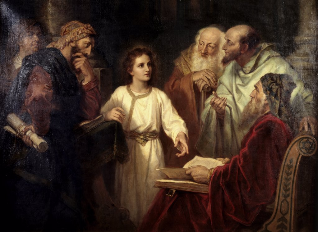 Stock Photo: 900-3200 Christ in the Temple at 12 