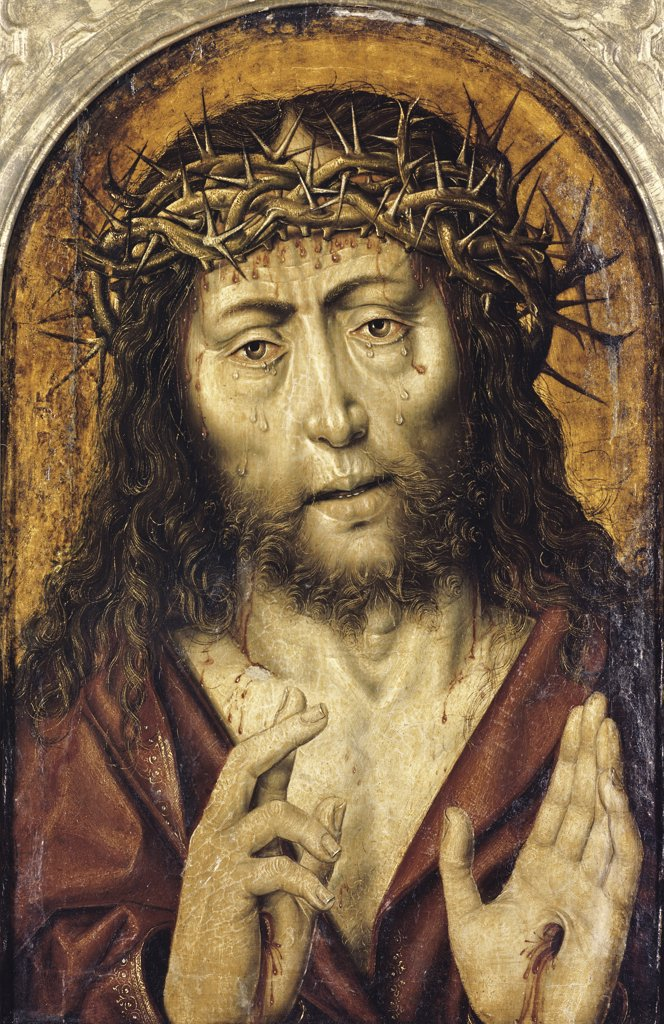 Stock Photo: 900-3249 The Man of Sorrows  Aelbrecht Bouts (c. 1460-1549/ Flemish)