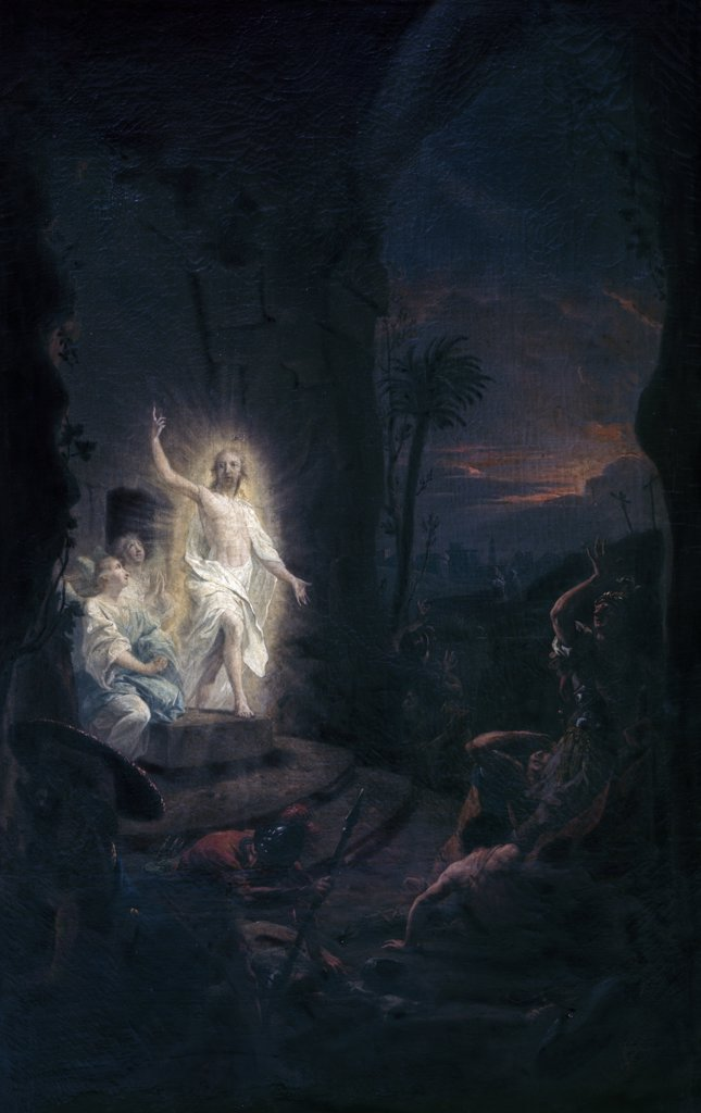 Resurrection of Christ by Johann Heinrich W. Tischbein, oil on canvas, (1751-1829), Germany, Hamburg, Kunsthalle : Stock Photo