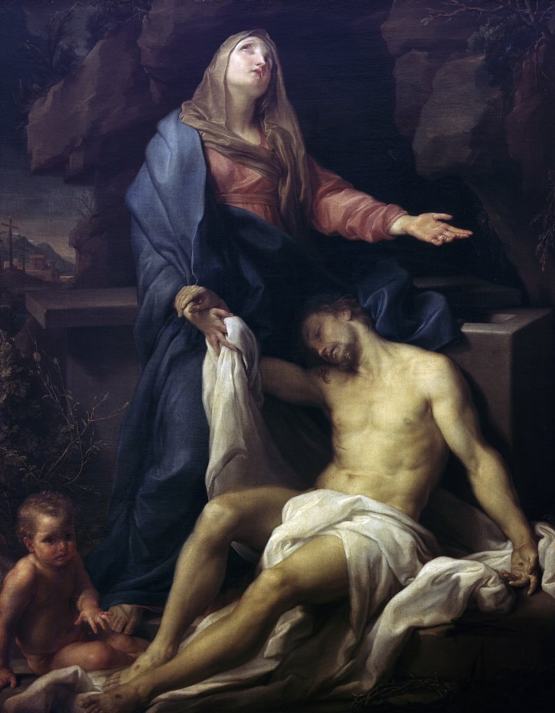 Stock Photo: 900-3313 The Mourning of Christ by Pompeo Giralamo Batoni, (1708-1787)