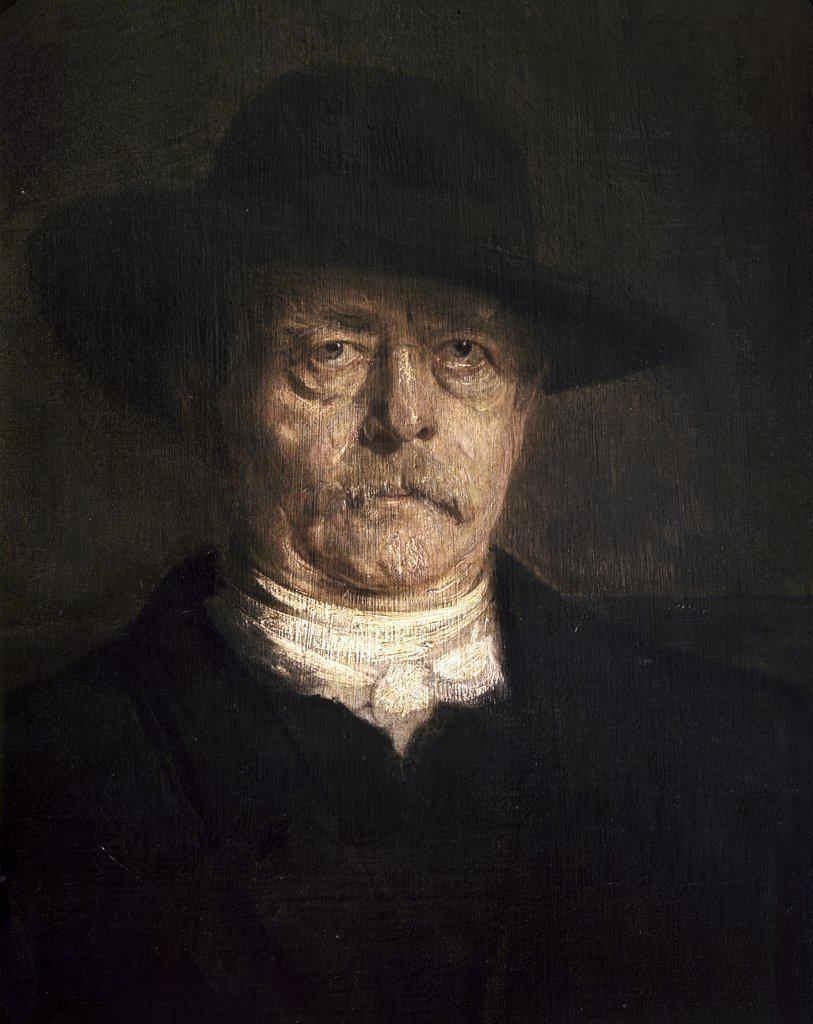 Stock Photo: 900-3444 Otto von Bismarck Franz Seraph von Lenbach (1836-1904 German)