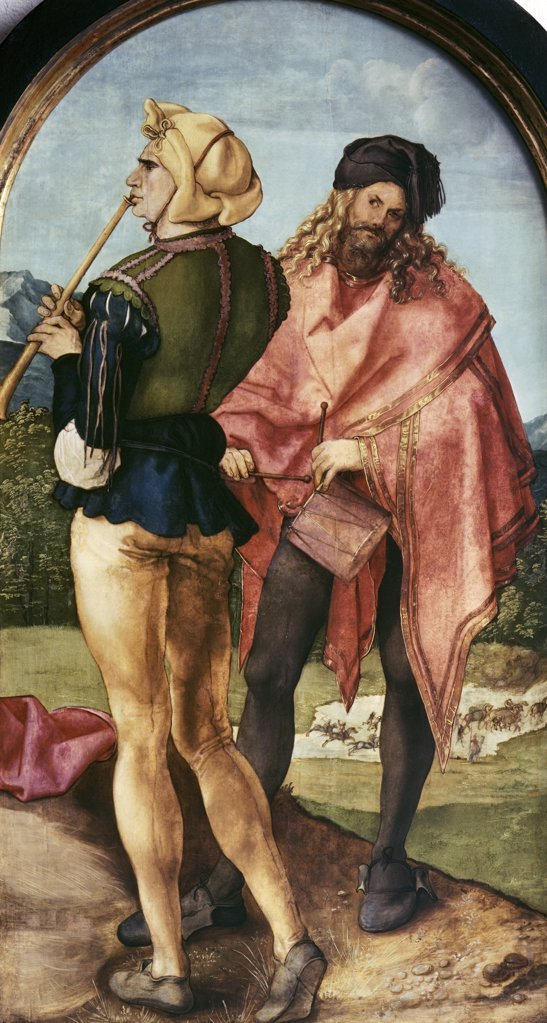 Stock Photo: 900-3463 Piper & Drummer