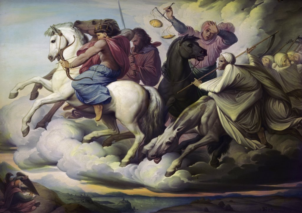 Stock Photo: 900-3471 Four Horsemen of the Apocalypse 