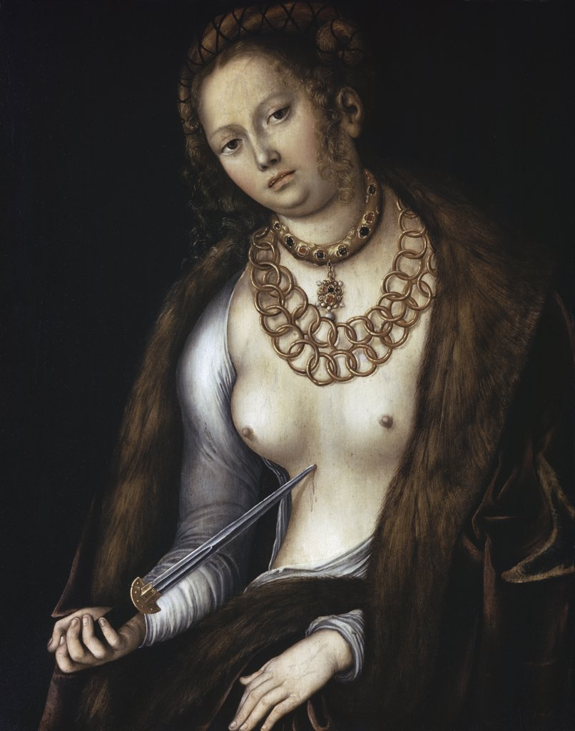 Stock Photo: 900-3557 Lucretia Lucas Cranach the Elder (1472-1553 German)
