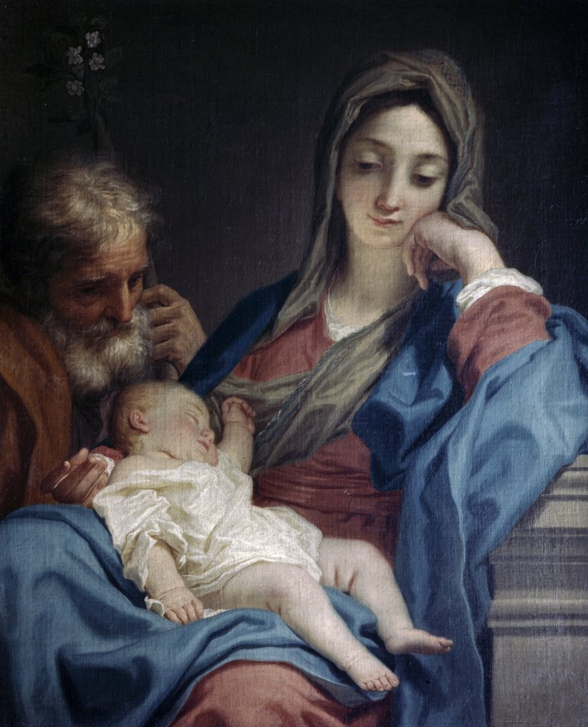 Stock Photo: 900-3571 The Holy Family by Benedetto Lutti, (1666-1724)