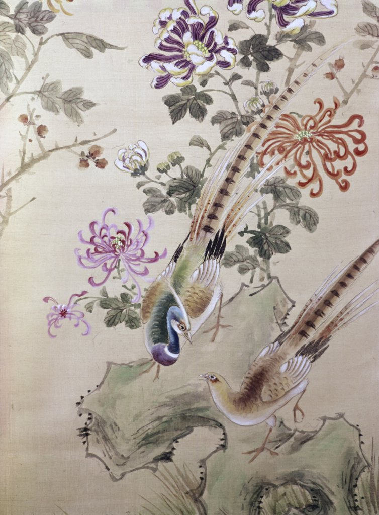 Stock Photo: 900-375 Birds and Flowers