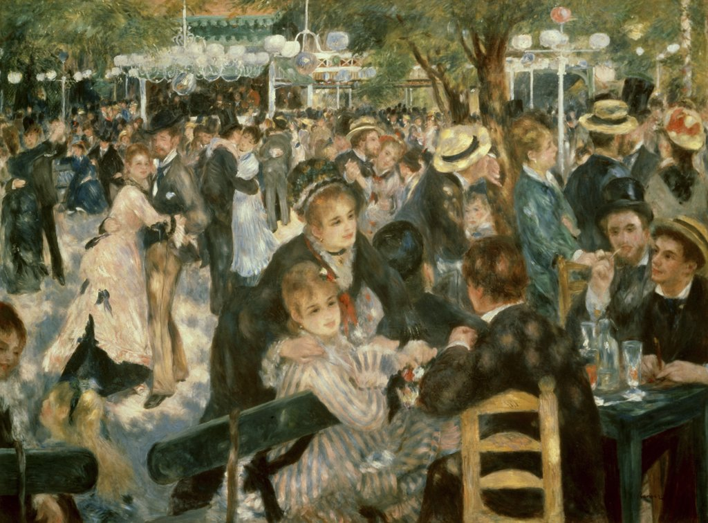 Stock Photo: 900-3788 Ball at the Moulin de la Galette, Montmartre