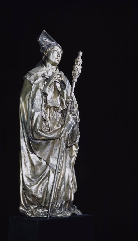 Stock Photo: 900-420 St. Louis Of Toulouse Donatello (ca.1386-1466 Italian) Bronze Basilica di Santa Croce, Florence, Italy
