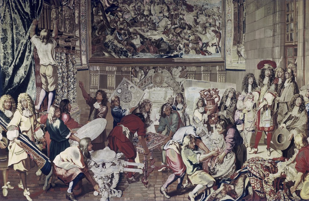 Stock Photo: 900-5264 Louis XIV Visit To Gobelins Factory, Oct. 15, 1667