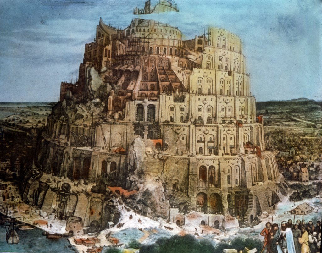 Stock Photo: 900-5458 Tower Of Babel by Pieter Bruegel the Elder, oil on wood panel, circa 1563, 1525-1569, Austria, Vienna, Kunsthistorisches Museum