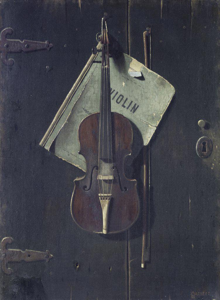 The Old Cremona William Michael Harnett (1848-1892/American) : Stock Photo
