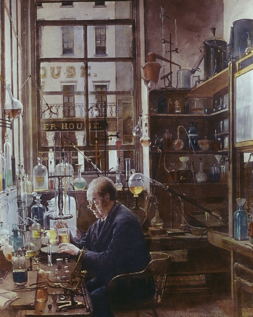 Stock Photo: 900-5692 Laboratory of Thos Price
