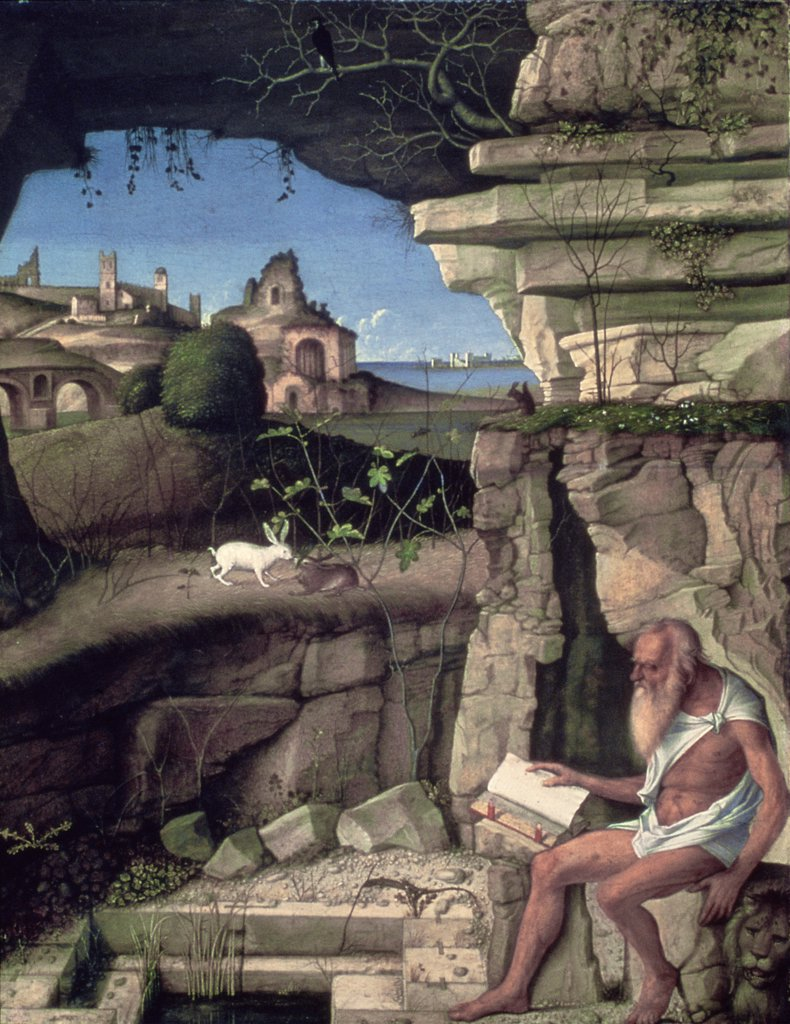 Stock Photo: 900-590 Saint Jerome Reading