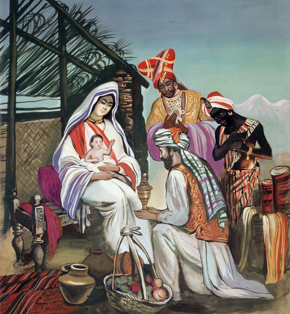 Stock Photo: 900-5967 Adoration of the Magi Sarvepalli Prasad (Indian)