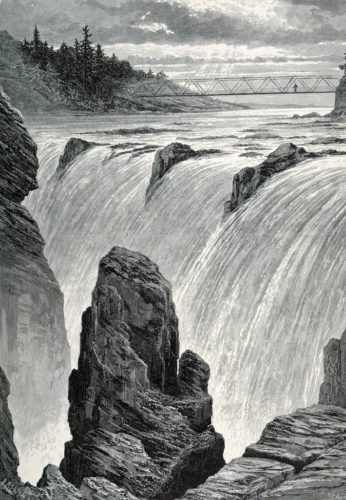 Passaic Falls by unknown artist : Stock Photo