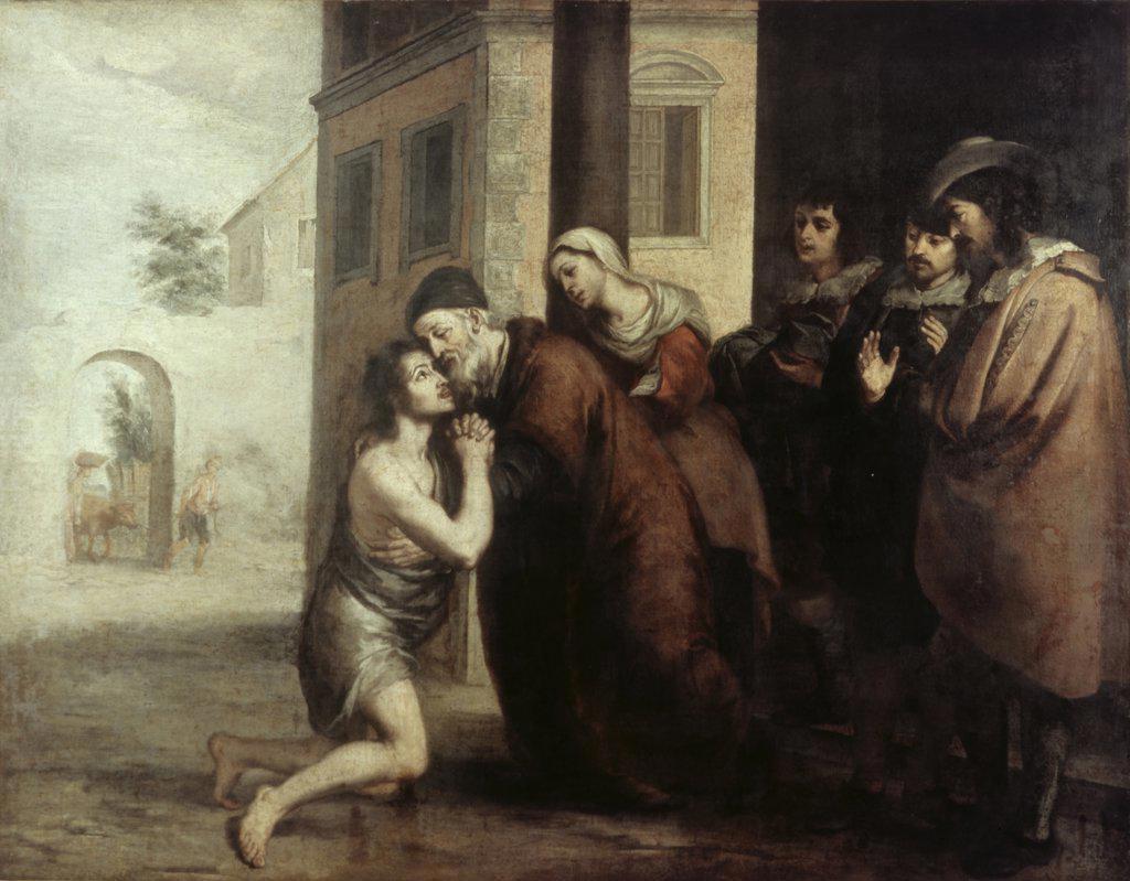 Stock Photo: 900-6086 The Return of the Prodigal Son Bartolome Esteban Murillo (1617-1682/Spanish)