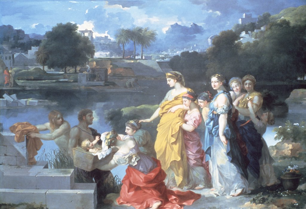 Finding of Moses by Sebastien Bourdon, (1616-1671), USA, Washington DC, National Gallery of Art : Stock Photo