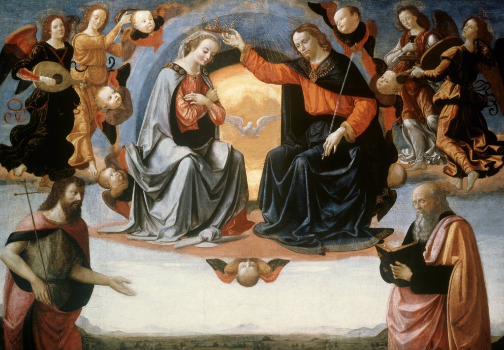 Stock Photo: 900-6217 The Coronation of the Virgin 