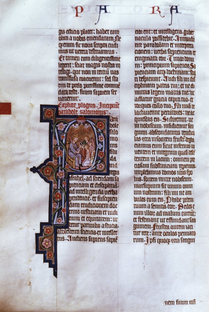 Stock Photo: 900-622 Illuminated Page Manuscripts Stift Kremsmunster, Austria (Benedictine Abbey)