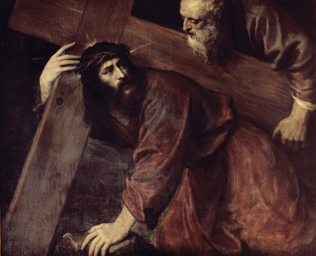 Stock Photo: 900-6254 Christ and Simon the Cyrenian 