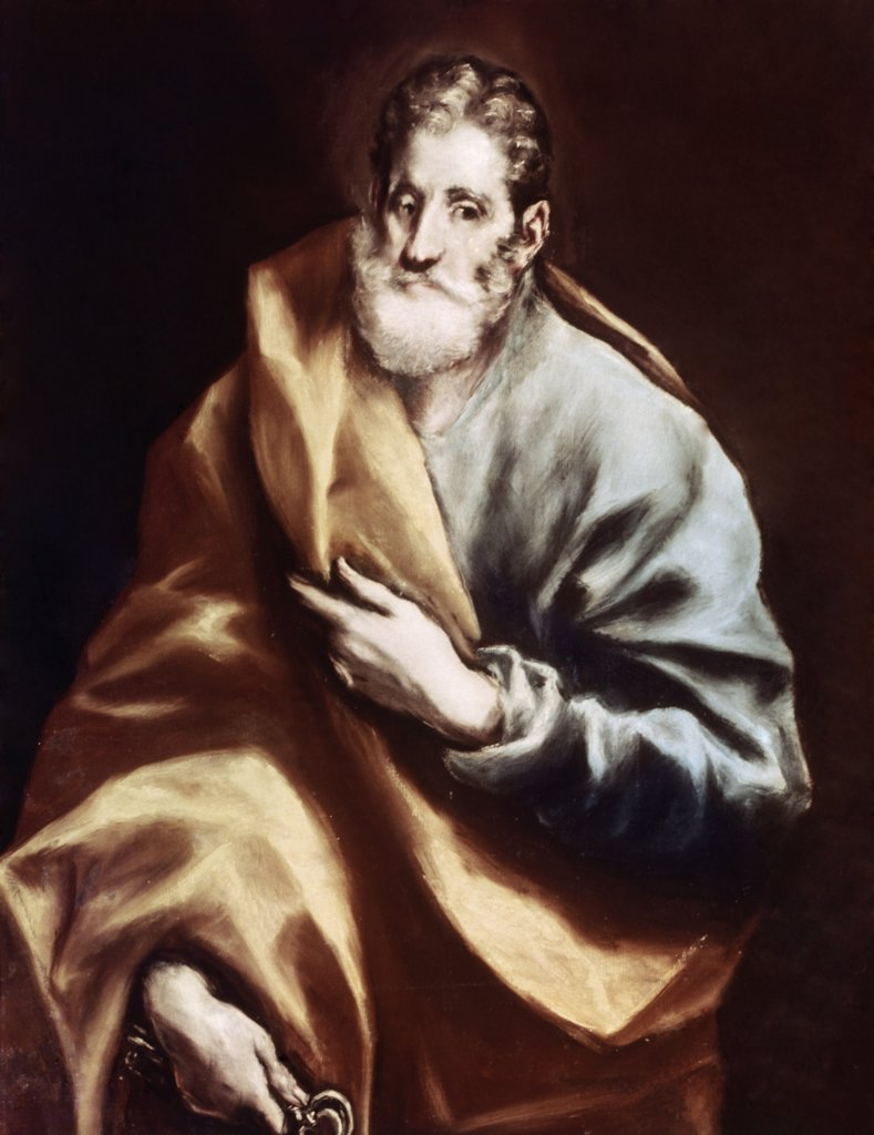 Stock Photo: 900-6326 Saint Peter by El Greco, (1541-1614)