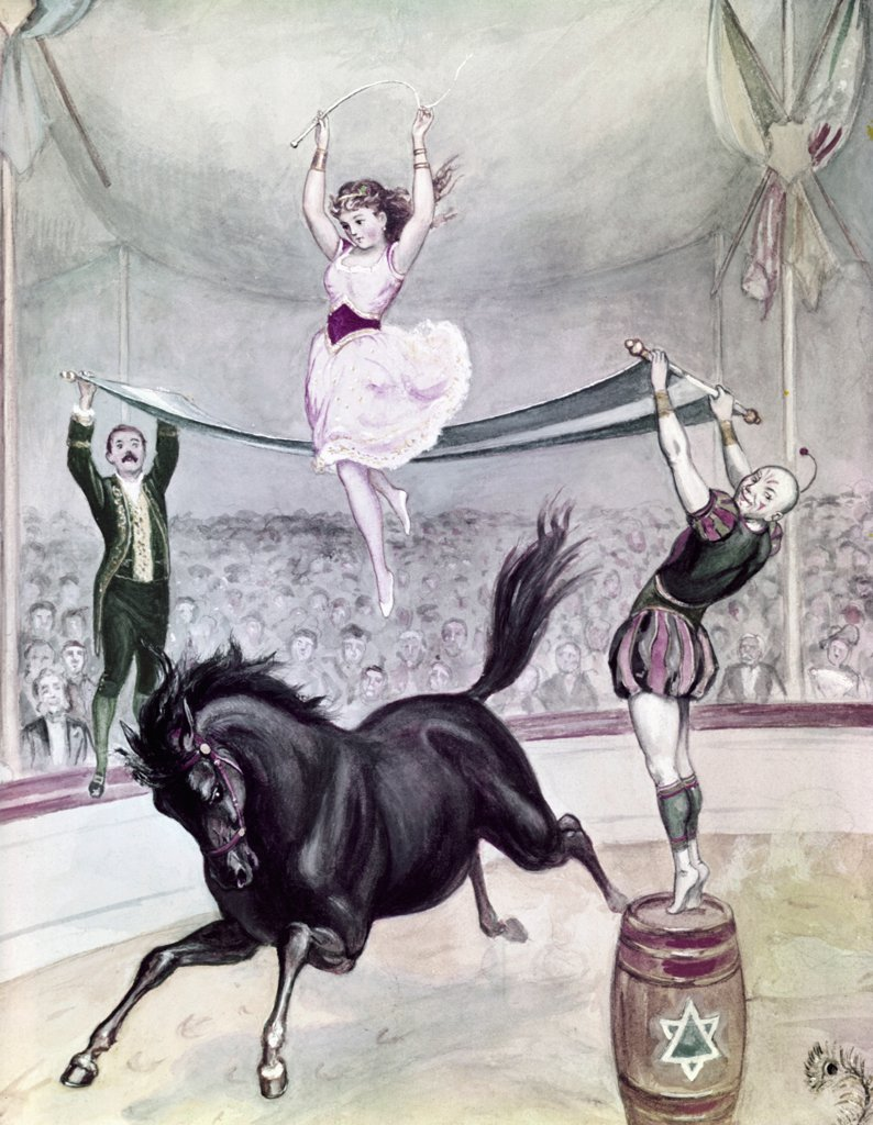 Antique Circus poster by Alex Hoag : Stock Photo