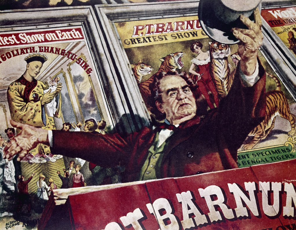 P.T. Barnum by unknown artist : Stock Photo