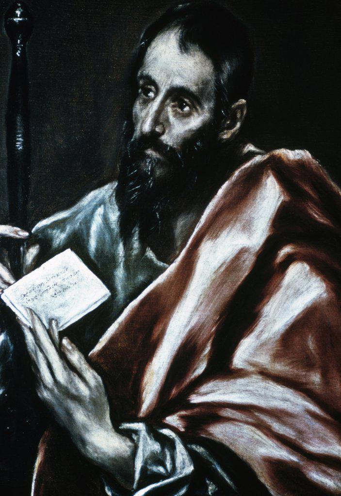 USA, Missouri, St.Louis, St. Louis Art Museum, Saint Paul by El Greco, 1600, (1541-1614), : Stock Photo