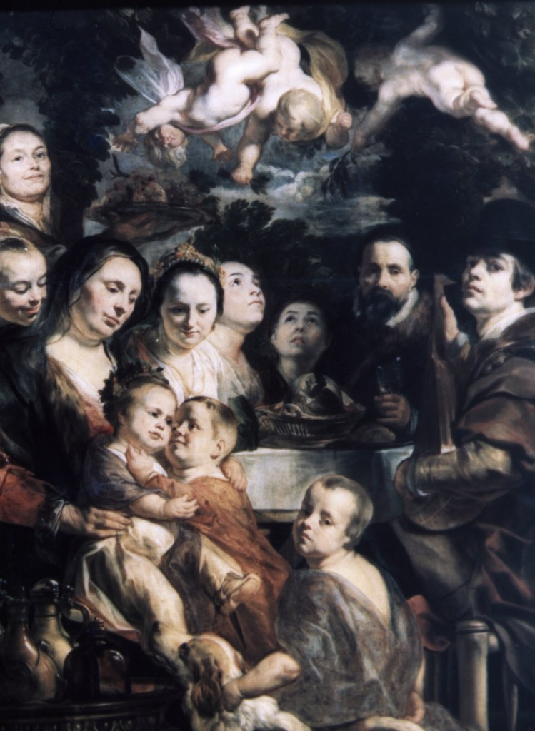 Stock Photo: 900-64921 Self-Portrait with Parents, Brothers and Sisters by Jacob Jordaens, circa 1615, 1593-1678