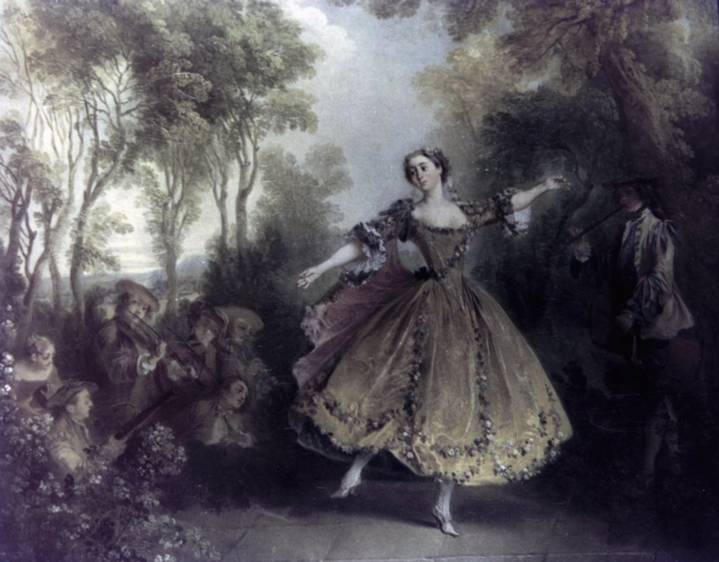 Stock Photo: 900-64932 Dancer Camargo by Nicolas Lancret, 1730, 1690-1743