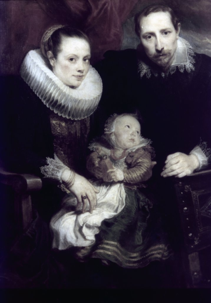 A Family Portrait by Anthony van Dyck, oil on canvas, circa 1621, 1599-1641, Russia, St. Petersburg, The Hermitage : Stock Photo