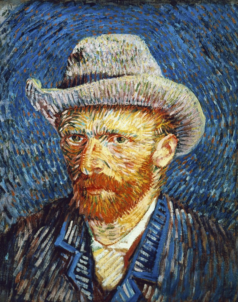 Self Portrait in Grey Felt Hat 