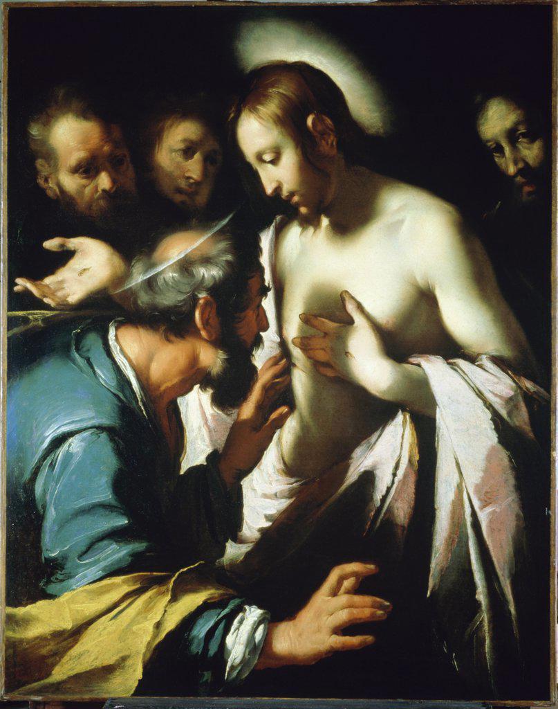 Stock Photo: 900-676 Doubting Thomas  Bernardo Strozzi (1581-1644/ Genoese)  Museum of Art, Ponce, Puerto Rico