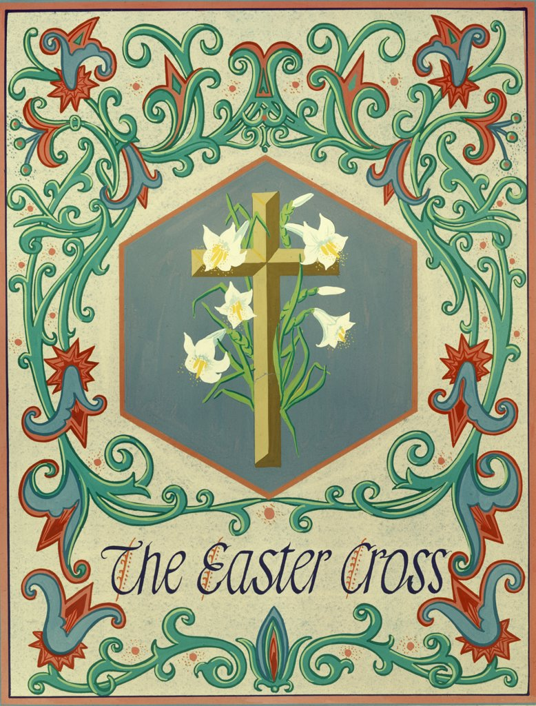 Stock Photo: 900-7174 The Easter Cross by Roberto Tapelloni, 20th Century