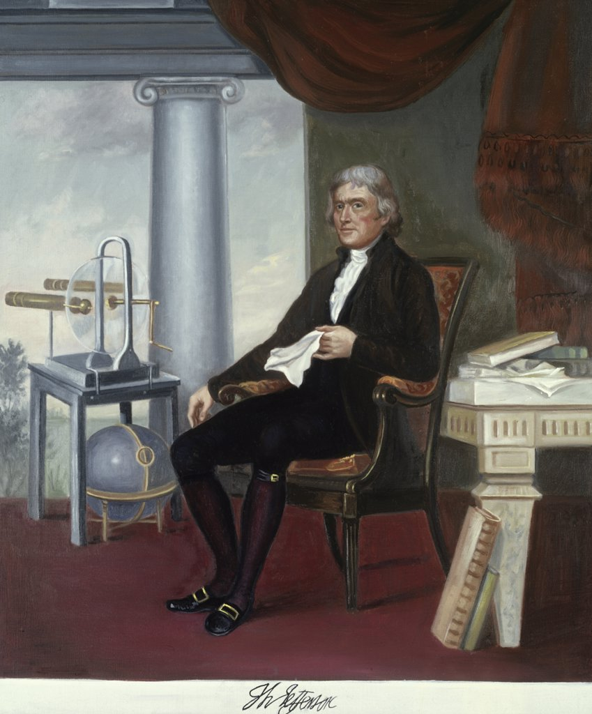 Stock Photo: 900-7261 Thomas Jefferson (1743-1826) 4th President of the United States Vittorio Bianchini (1797-1880 Italian)