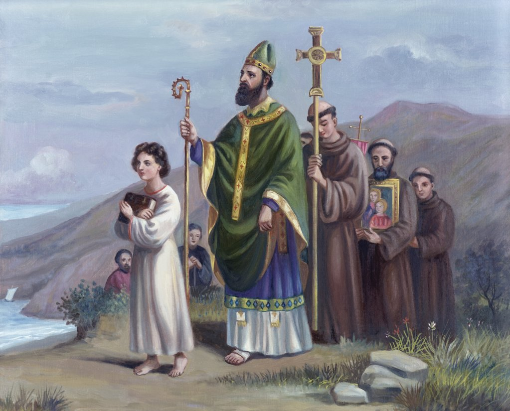 Stock Photo: 900-7276 Saint Patrick Journeys to Tara Vittorio Bianchini (1797-1880) Italian