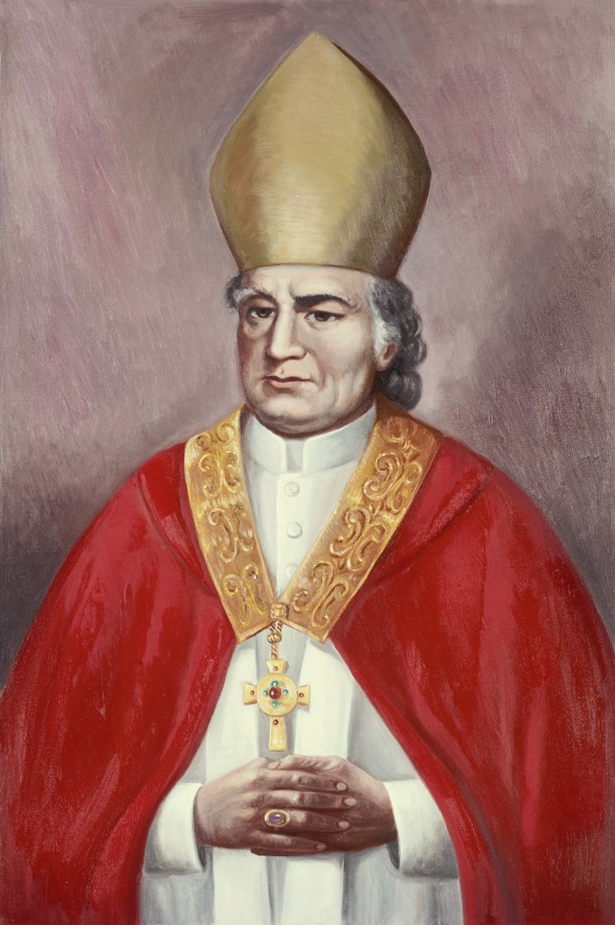 Archbishop John Carrol Vittorio Bianchini (1797-1880 Italian) : Stock Photo